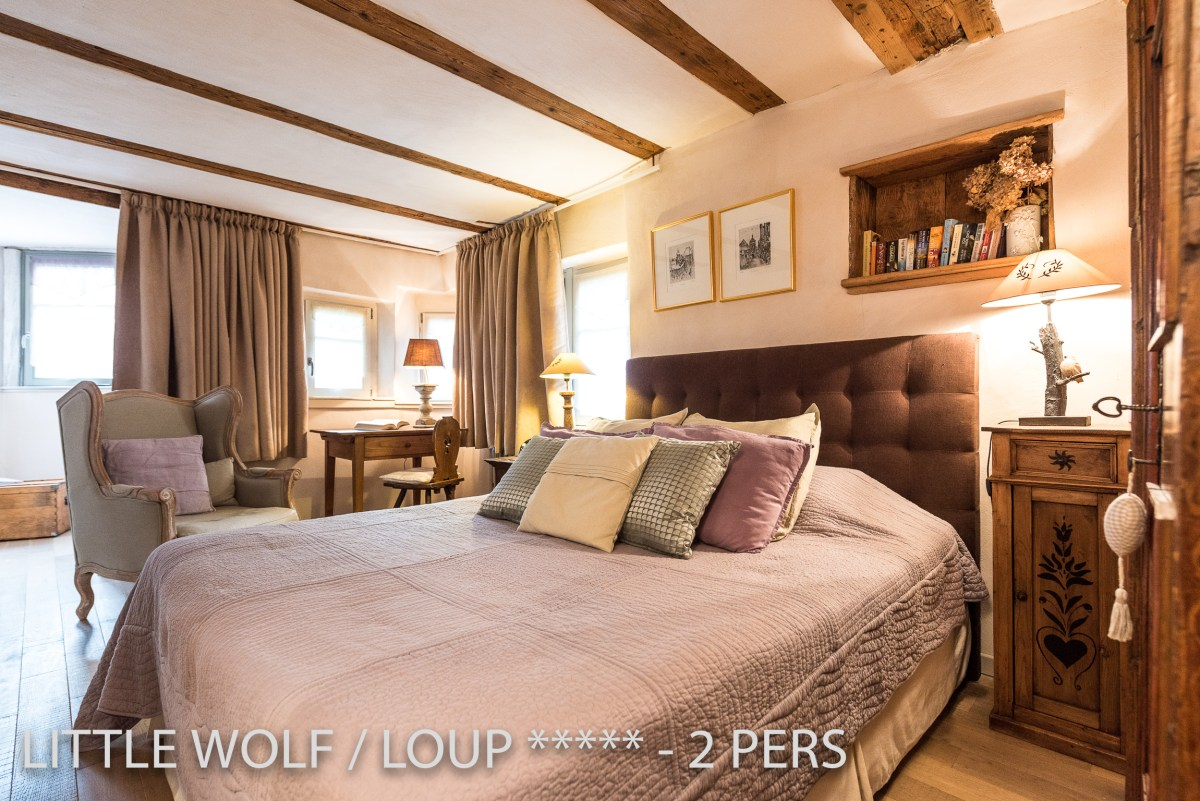 Little Wolf ***** romantic holiday rental for 2 pers in Riquewihr, Alsace.