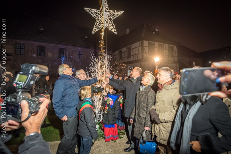 Inauguration of the Christmas Markets in Colmar, November 23, 2018 at 6 pm in front of the Unterlinden Museum.