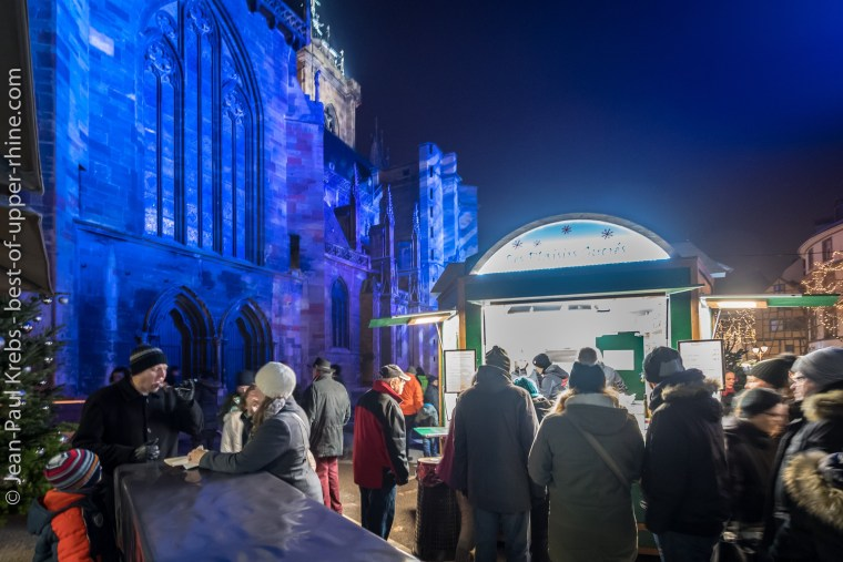 New in 2018: At the foot of the Saint-Martin cathedral, a 6th Christmas market in Colmar dedicated to gastronomy.