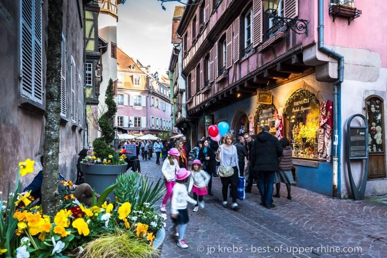 Merchants Street in Colmar, near the Bartholdi Museum.