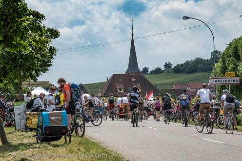 Slow Up Alsace. The village stage Rohrschwir.