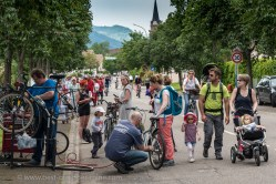 Slow Up Alsace. Rental and maintenance of bicycles in Bergheim and several other points of the course.