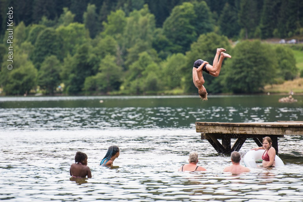 Swimming at Lake Longemer