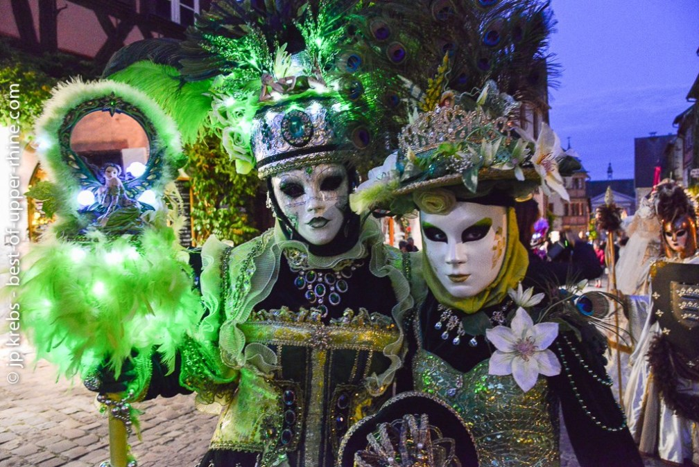 The Venetian parade of Riquewihr at the beginning of July is a festival of colors.
