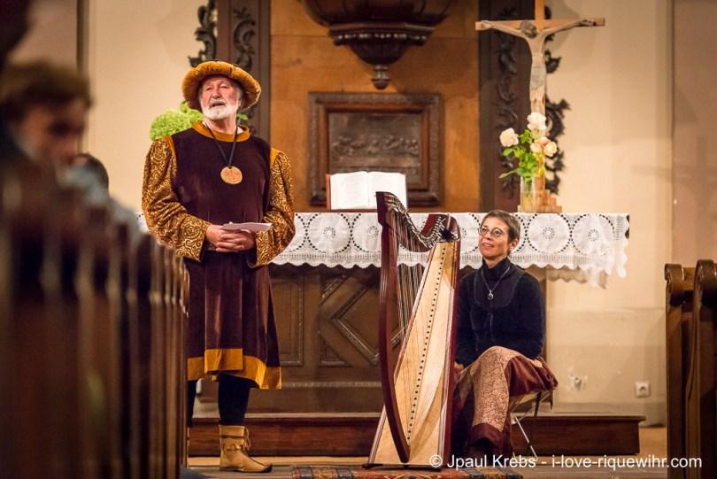 Daniel Ehret and harpist Marie-Madeleine Sigwart.