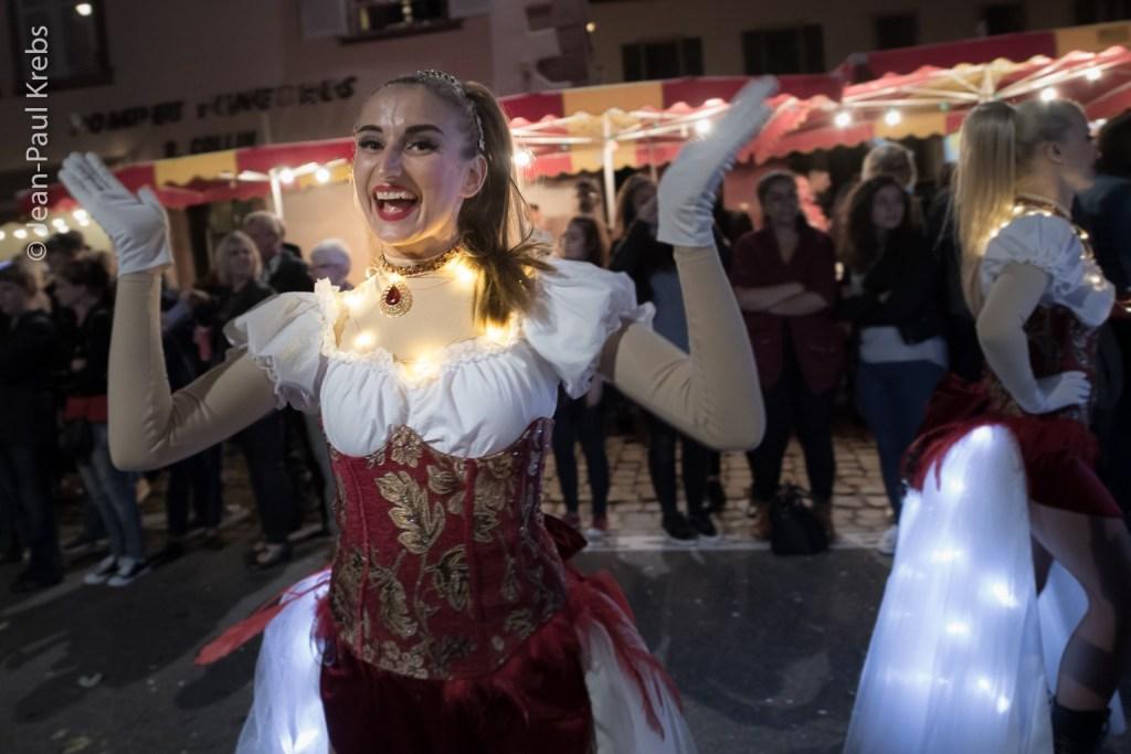 Sélestat, Corso Fleuri 2017. Night parade.