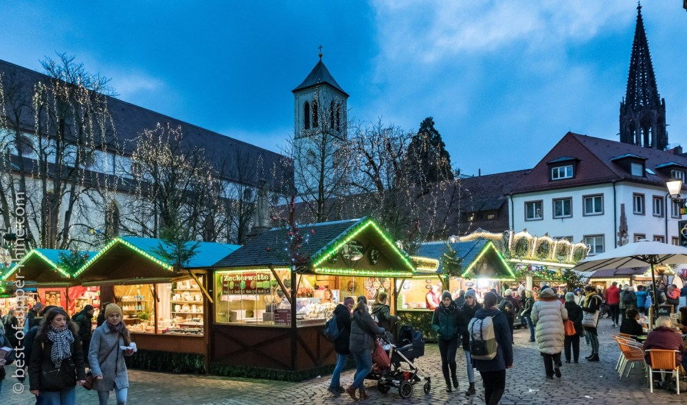 Christmas market in Freiburg in Germany.