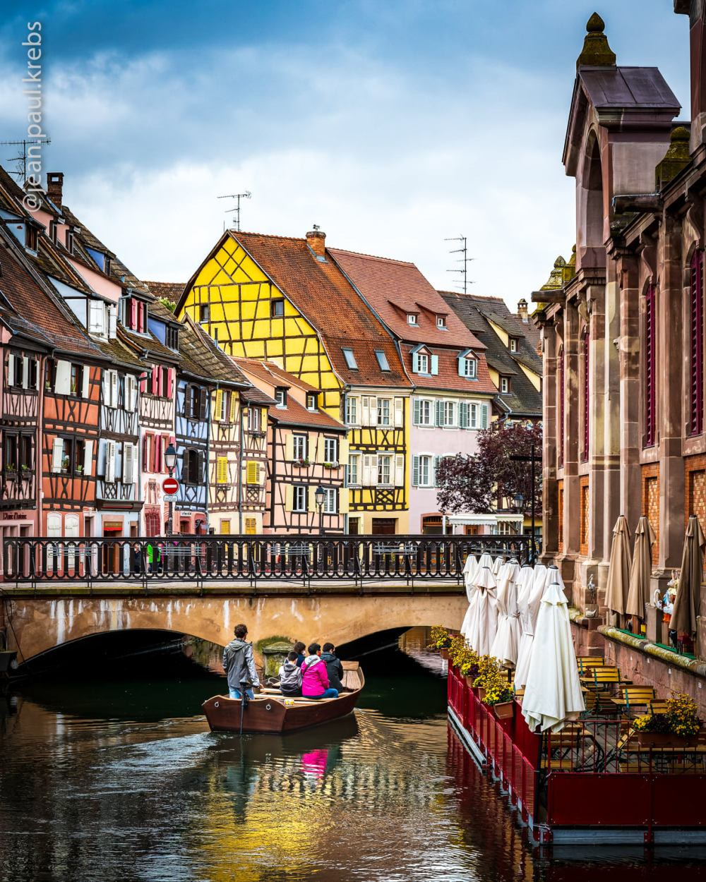 The charming city of Colmar in Alsace near Riquewihr