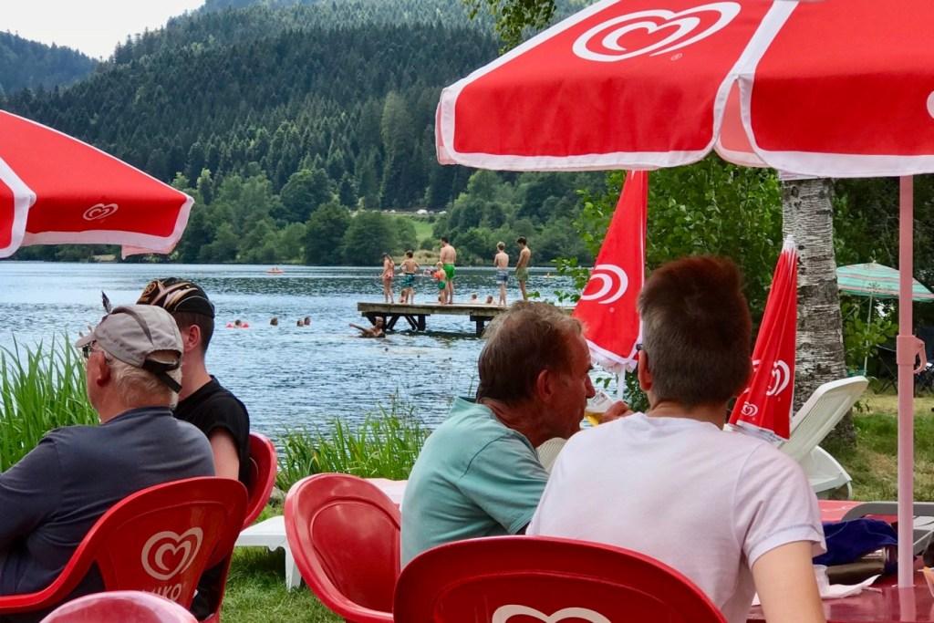 Longemer lake on the Vosges Mountain near Alsace