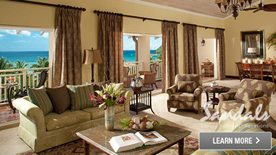 Sandals Halcyon Beach St. Lucia President Clinton