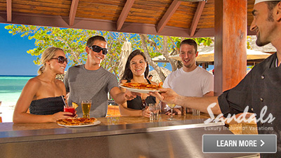 Caribbean good pizza