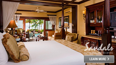 Sandals Negril Jamaica best honeymoon suites