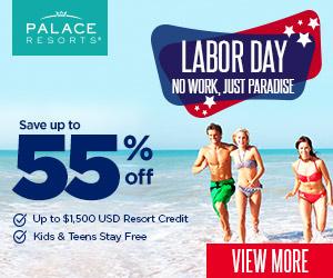 palace resorts labor day sale vacation