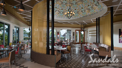 sandals grande st lucian best place to dine