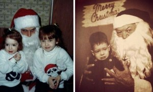 Creepy Santa Lap - The Worst Santa's Lap Photos to Ruin Your Christmas