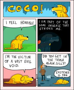 coco the dog ozan draws comics 1 5a38c89ba16d6 png  700 247x300 - 17 Hilariously Pessimistic Comics About Coco The Jolly Dog That Every Pessimist Will Relate To