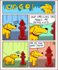 coco the dog ozan draws comics 11 5a38c8d0c8153 png  700 247x300 - 17 Hilariously Pessimistic Comics About Coco The Jolly Dog That Every Pessimist Will Relate To