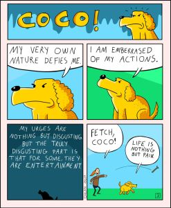 coco the dog ozan draws comics 8 5a38c8c0699d2 png  700 247x300 - 17 Hilariously Pessimistic Comics About Coco The Jolly Dog That Every Pessimist Will Relate To