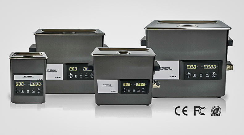 GT Sonic ultrasonic cleaners with touch control and degassing
