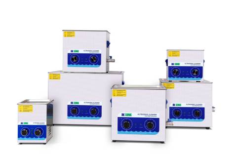 stack of DK-sonic analogue ultrasonic cleaners