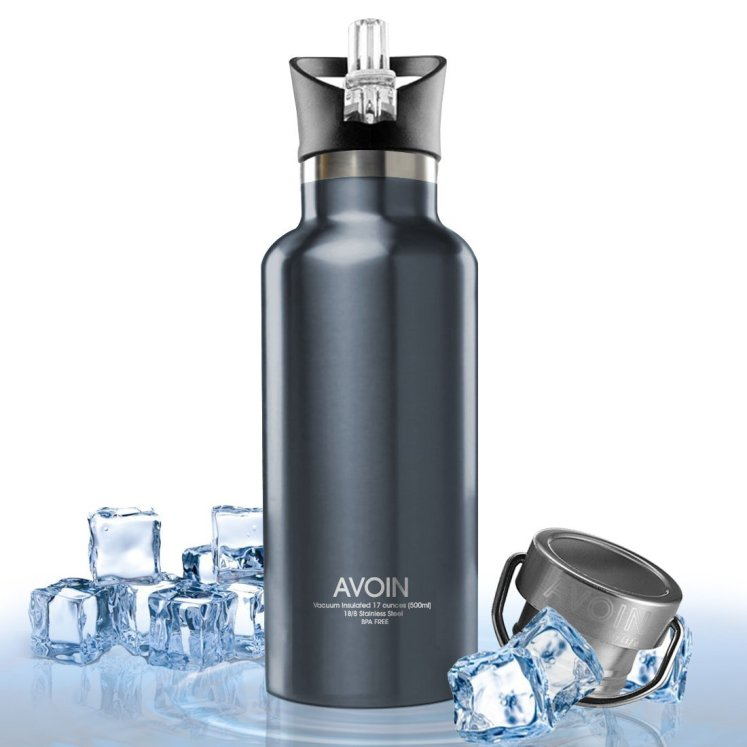 Avion Colorlife water bottle, the bottle is perfect for keeping water cold and it is probably the best insulated water bottle.