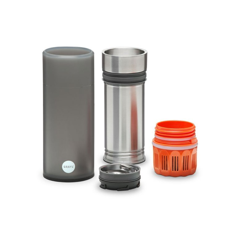 The grayl water bottle is one of the best filtered water bottels.