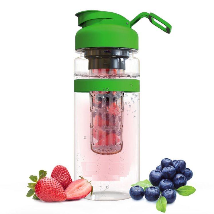 The best infuser water bottle in green