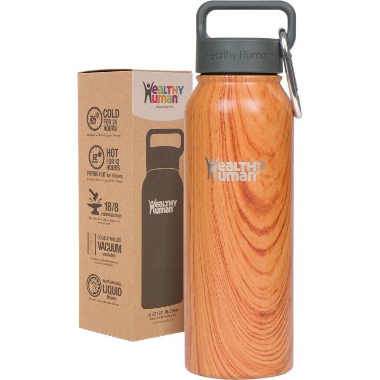 a wooden bottle