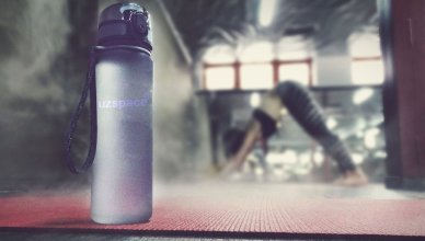 The uzspace bottle is the best water bottle for gym