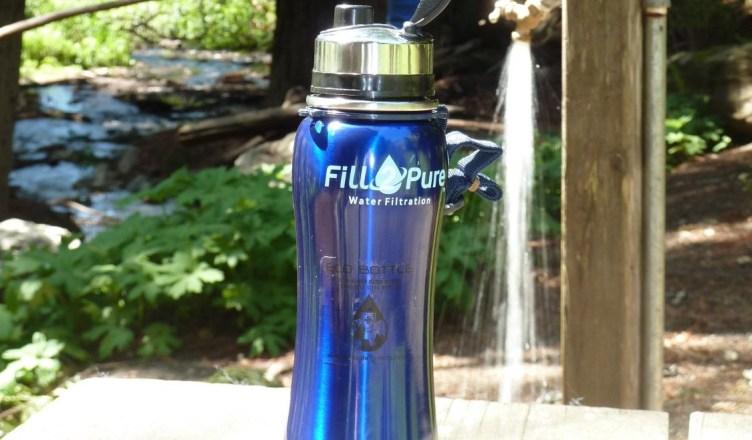 The dark metallic bottle is the best stainless steel water bottle