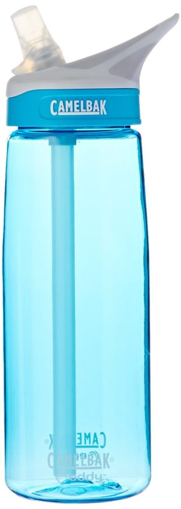CamelBak Eddy in a blue version standing up.