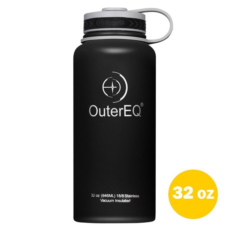 QuterEQ hiking water bottle, this is our choice as the best hiking water bottle.