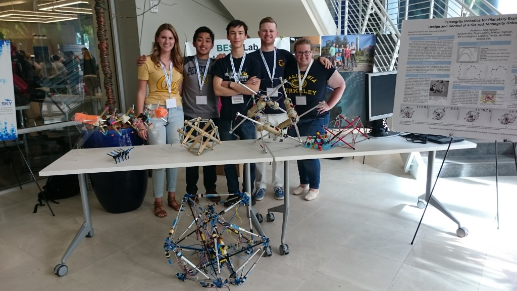Members of the BEST Lab at the 2016 Robot Block Party. From left to right: Mallory Daly, Brian Cera, Ellande Tang, Drew Sabelhaus, Lara Janse Van Vuuren