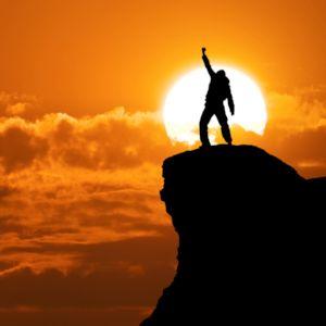 勝利,成功,トップ,登頂