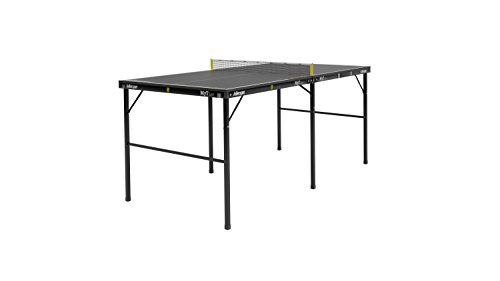 Killerspin MYT Lee Table Tennis Table U2013 Small Foldable Black Ping Pong Table  With Easy And Quick Setup