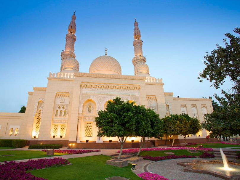 Jumeirah Mosque is a Fatimid style mosque in Dubai
