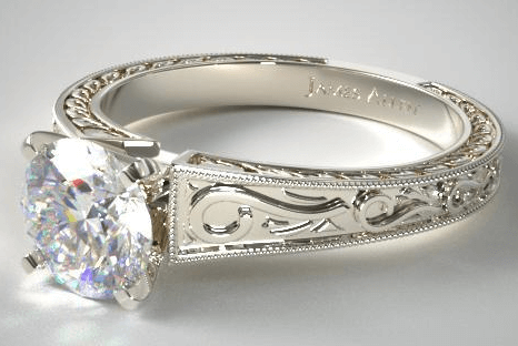 vintage ring setting best custom engagement rings - 1 carat diamond ring