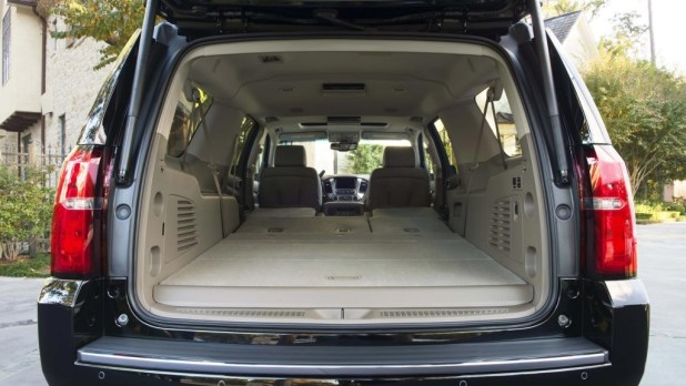 2017 Suburban 2nd And 3rd Row Seats Folded