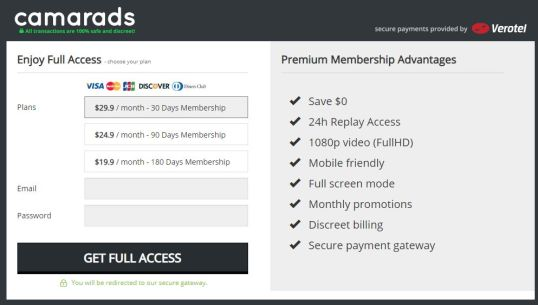 camarads membership prices