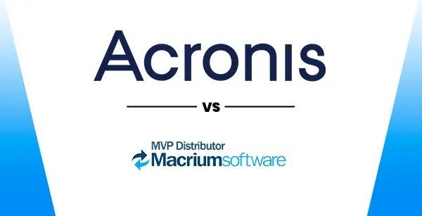 Acronis VS Macrium Reflect Recovery Tools Comparison