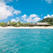 Galley Bay Resort and Spa from afloat !