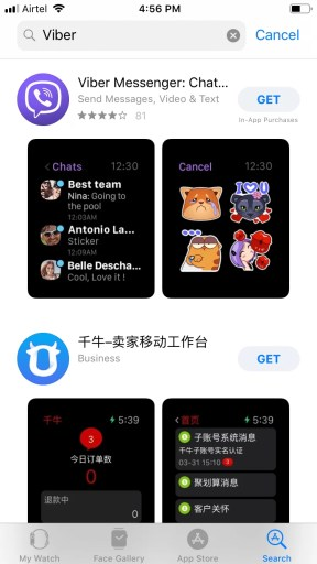 Viber for Apple Watch