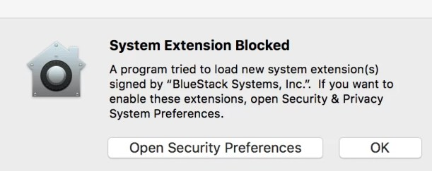 Click on Open Security Preferences