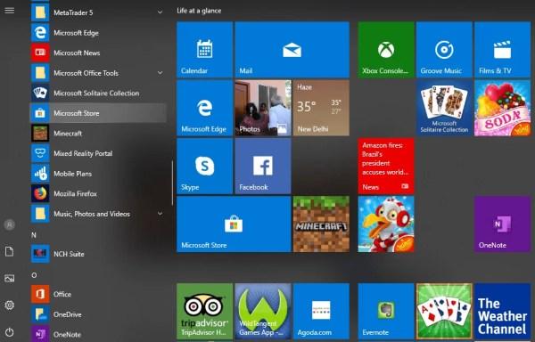 Select Microsoft Store