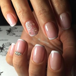 Nail Art French Manicure Designs For Short Nails