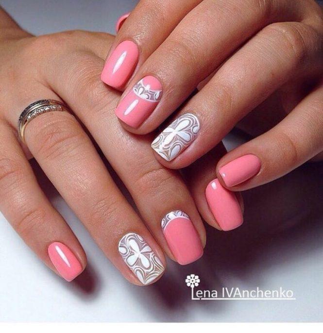 Omd3 Nail Art Challenge Day 2 Peach Nails
