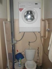 Excelente solução para quem tenha casas de banho minúsculas (como a minha!). Mas... e o ciclo de centrifugação?
