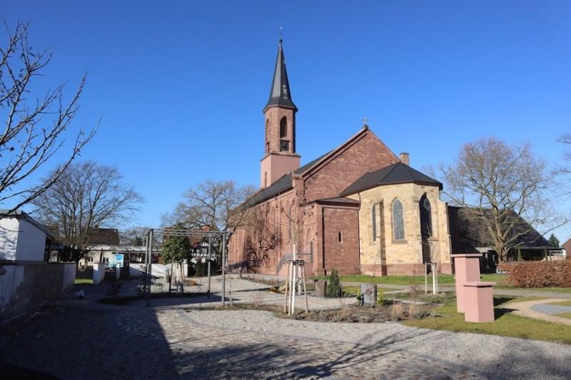 Friedhof Linkenheim - Evangelische Kriche