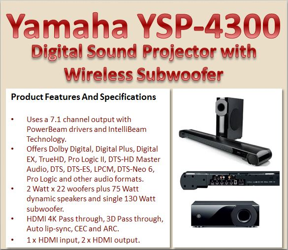 Yamaha YSP-4300 Product Features