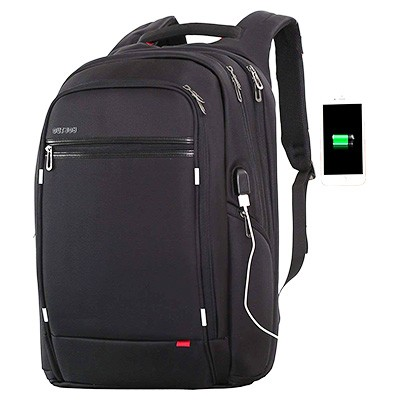 Outjoy Laptop Backpack for Men,Water Resistant Polyester with USB Charging Port